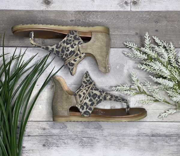Gypsy Jazz Very G Tan & Leopard Sandal