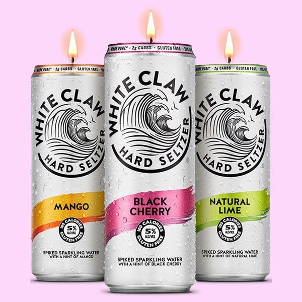 White Claw Candles