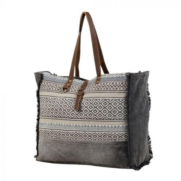 Myra Bags Minimal Rhombus Patterned Weekender Bag