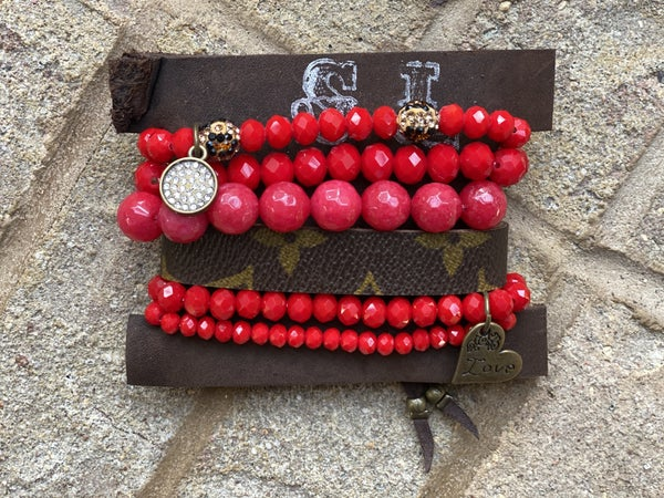 Upcycled Couture Royal Red Stack!