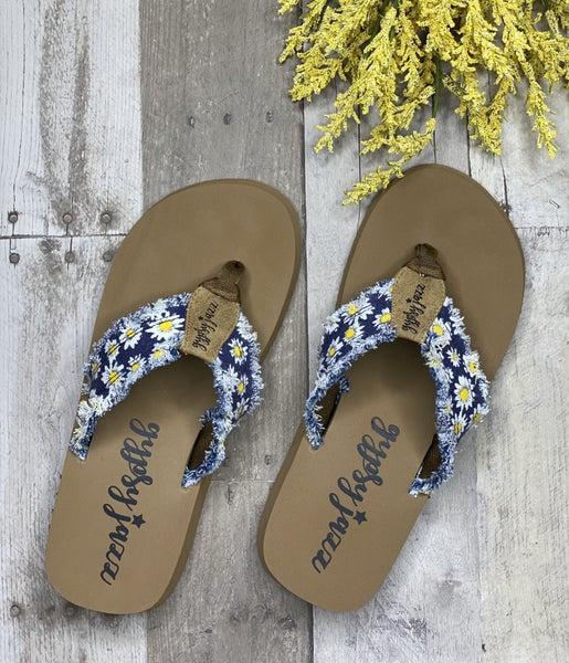 Gypsy Jazz Very G Sunflower Distressed Sandals