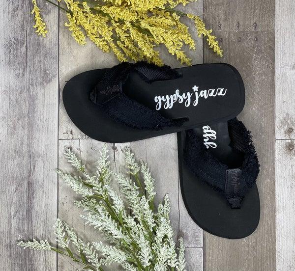 Gypsy Jazz All Black Sandals