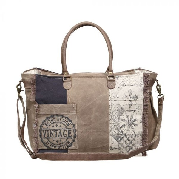 Myra Bags Retro Print Weekender Bag