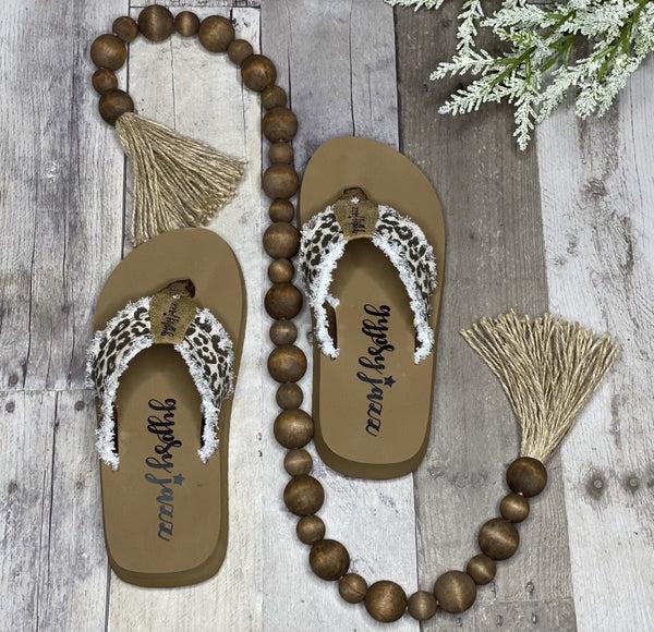 Gypsy Jazz Very G Leopard Distressed Sandals