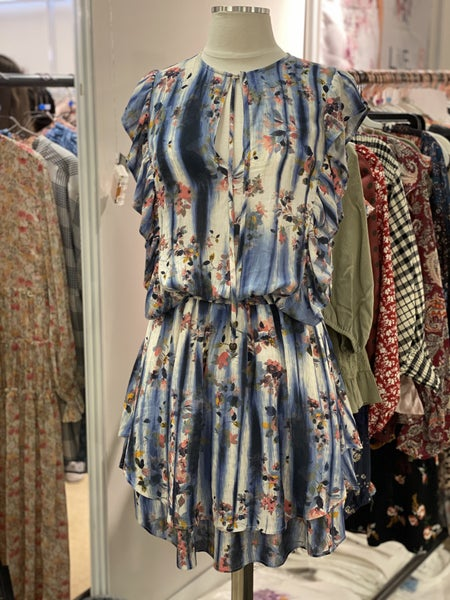 One World Blue Floral Dress