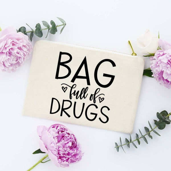 Bag Full Of Drugs Make Up Bag