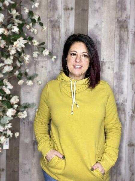 Ampersand Singlehood Sweatshirt- Chartreuse