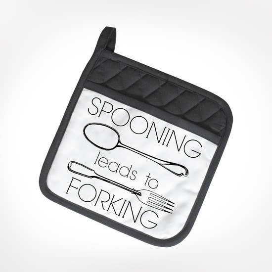 Rated XXX Spooning Leads To Forking POTHOLDER