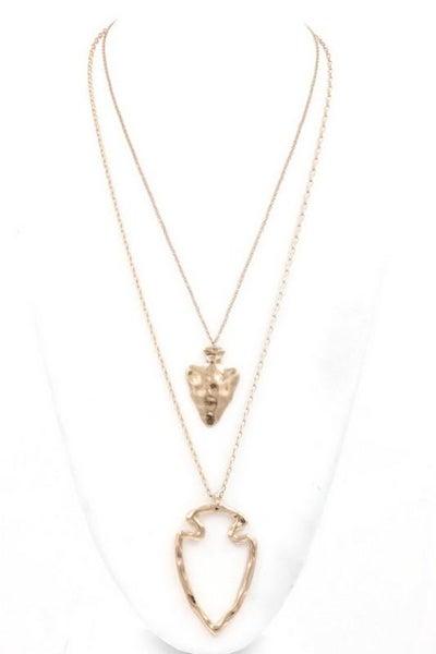 Traditional Arrowhead Pendant Necklace