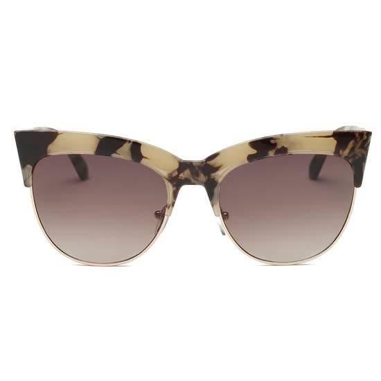 Half Frame Round Cat Eye Sunglasses