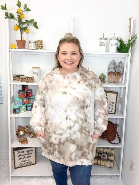 Haley Brushed Knit Tunic - Tan
