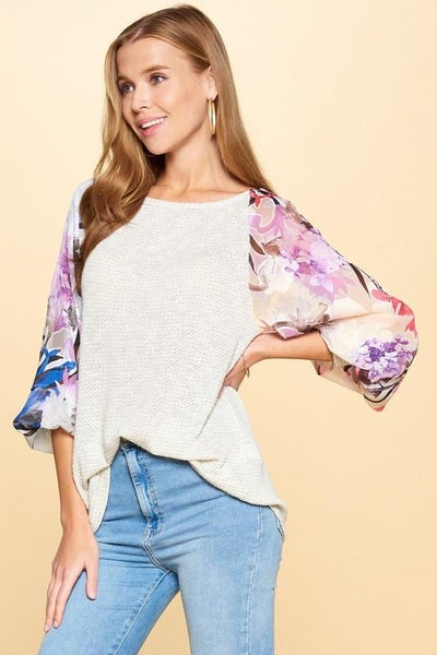 Bloom Where You Are Planted Raglan Top