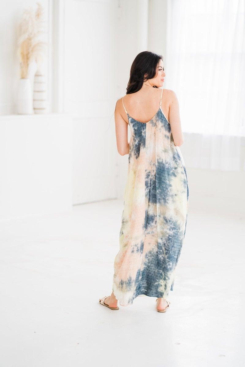 Tie dye Swiss Maxi Dress