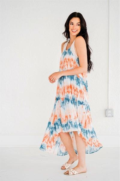 Sunday Hi Lo Lace Maxi Dress
