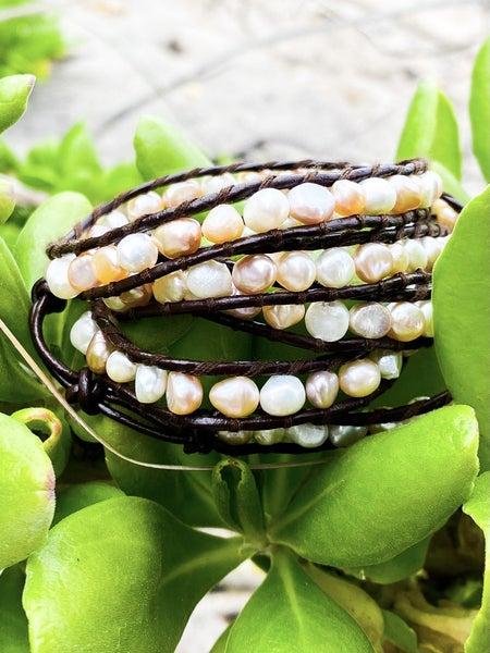 Wrapped Pearl Bracelet