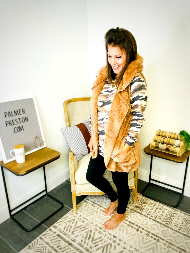 Egg Shell Cozy Up Cocoon Vest