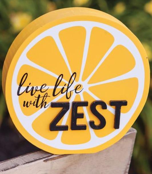 Live Life with Zest Lemon Block