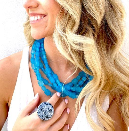 Frosted Sylvie Necklaces