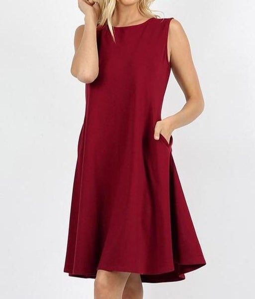 Brick Classic A Line Dress