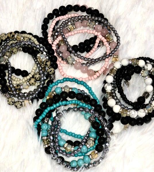 Stone Stack Bracelet Sets