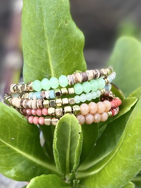 Beaded Coil Wrap Bracelets