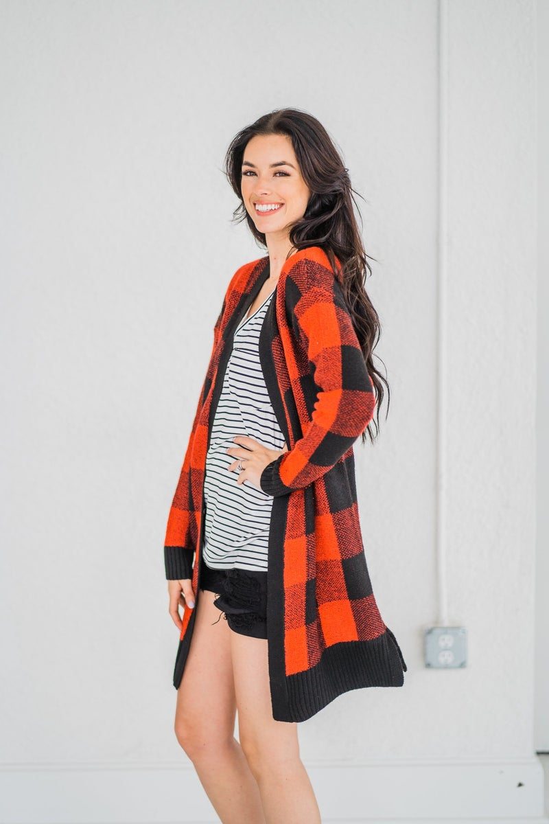Payton Plaid Cardigan