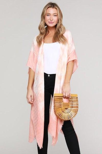 Southern Peach Tie Dye Kimono