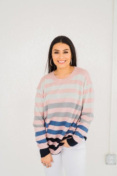 Keep It Simple Stripes Sweater