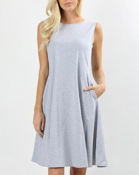 Grey Classic A Line Dress