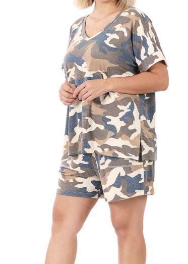 Camo Shorts Set