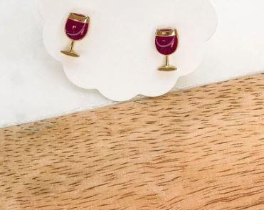 Enamel Stud Earrings