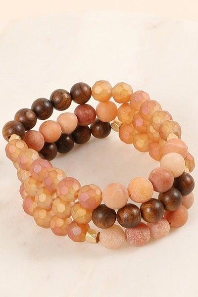 Boho Wooden Stretch Bracelet