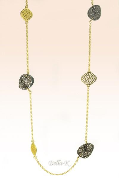 Evening Long Necklace & Earring Set