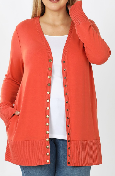Spiced Snap Front Cardigan