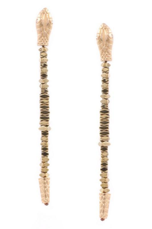 Sizzling Snake Earrings