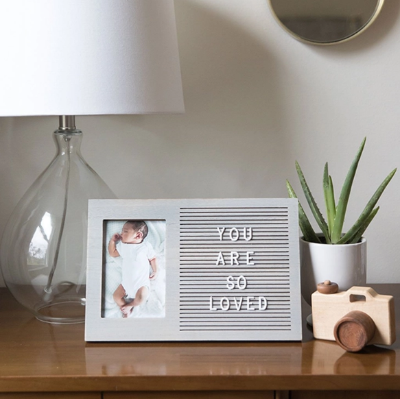 Gray Letterboard Photo Frame