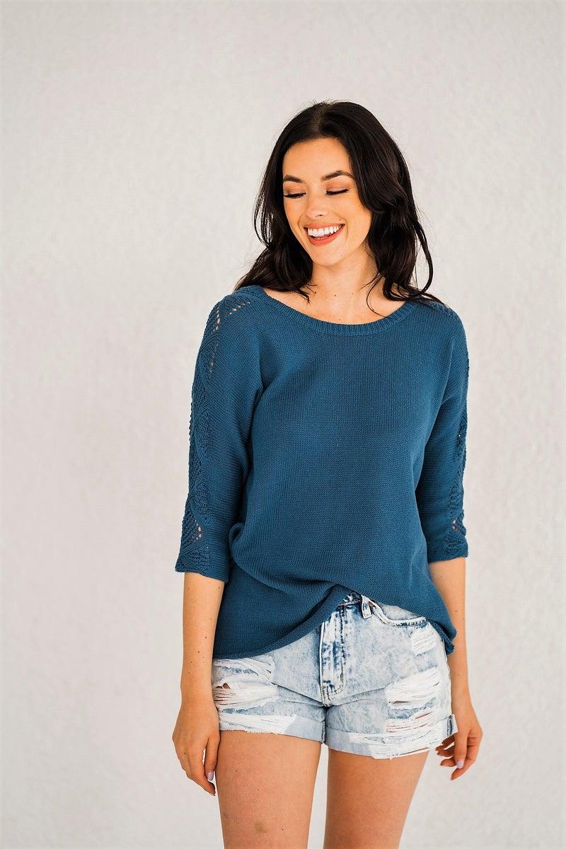 Natalie Knit - Blue