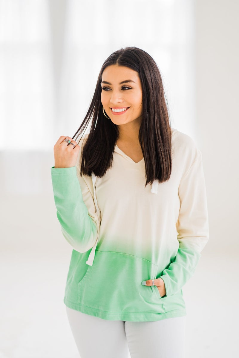 Ombre Mint Hoodie