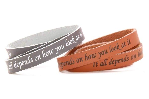 Leather Bracelet with Message