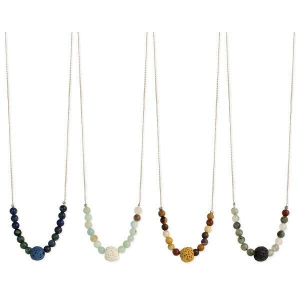 Stone Lava Bead Necklace