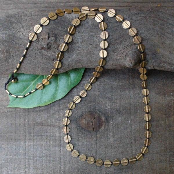 Brass Token Necklace