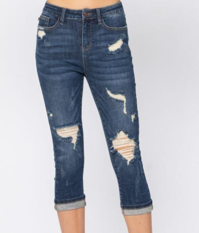 Hazel Highrise Capri Jeans
