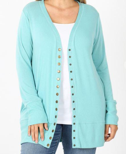 Snap Front Spring Cardigan