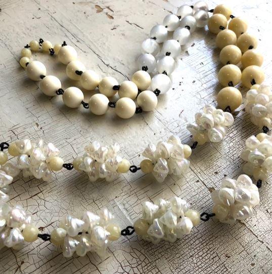 Seashell Rosary Rope Necklace
