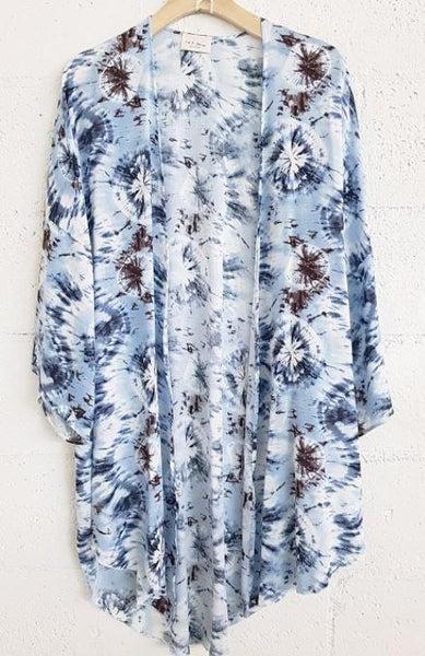 Blue Bursting Kimono