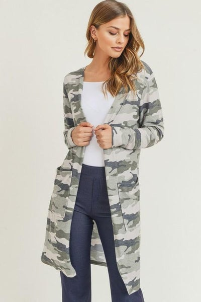 Hide The Duster Cardigan - Green
