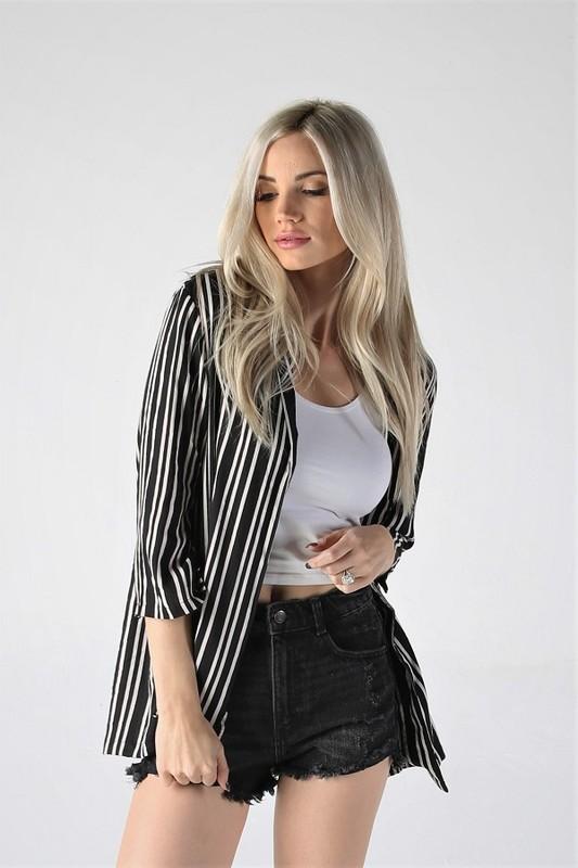 Boss Lady Striped Blazer