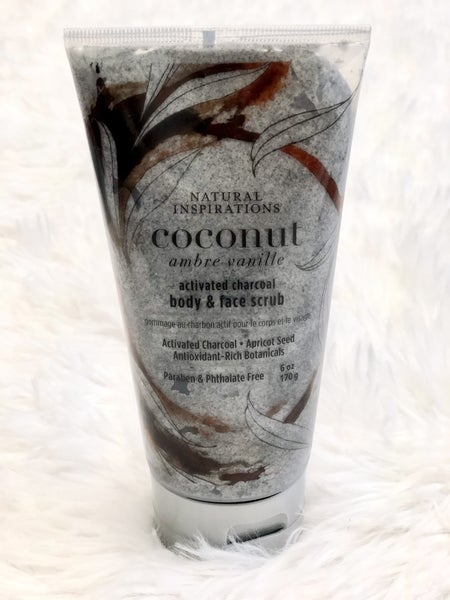 Activated Charcoal Body & Face Scrub