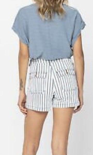 Judy Blue Pinstripe Shorts