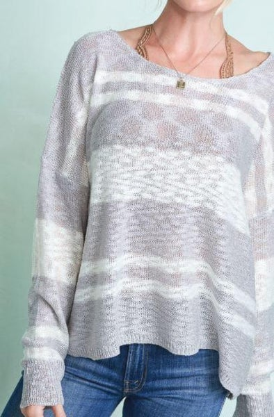 Knit Stripe Pullover